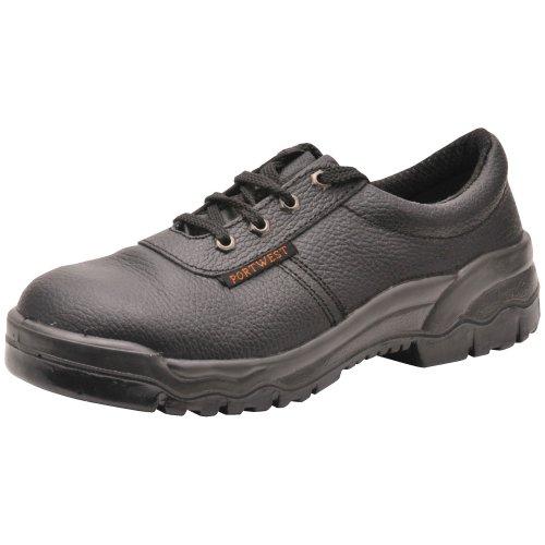 Portwest FW14, Calzado de protección de piel para hombre S1P, color negro, talla 50 EU (15 UK)