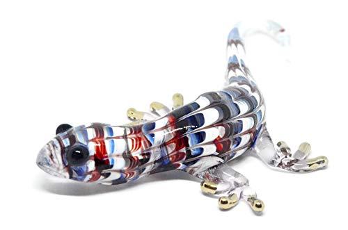 NaCrafTH Salamander Lizard Handmade Glass Figurines Murano Glassblowing Art Animal Figure Crystal Reptile Home Decor Garden Ornaments