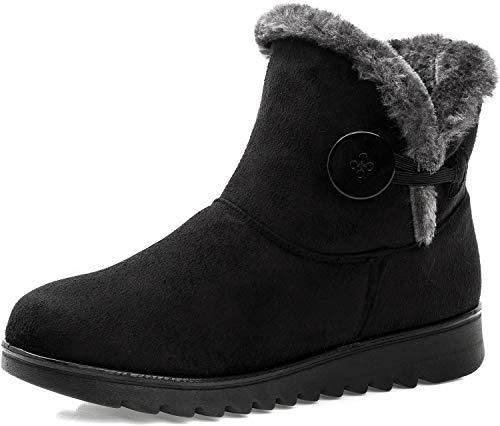 Stivali Donna Invernali Scarpe Stivaletti da Neve con Imbottitura Calda Stivali alla Caviglia Caldi Boots...