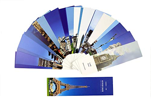 Chinese Style Paper Bookmark 30 Pieces Different Design Great Gift (Famous Buildings)