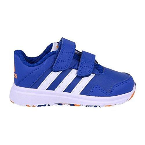 adidas Snice 4 CF I, Zapatos (1-10 Meses) Unisex bebé, Azul/Blanco/Naranja (Eqtazu/Ftwbla/Eqtnar), 21 EU