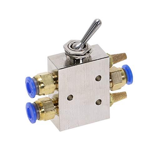 Graciella TAC2-41P Válvula de Escape Tono de Plata Aleación 2 Posición 5 Vías 1/8'Palanca de Palanca de Palanca Interruptor de válvula neumática out Graciella (Color : 4MM)