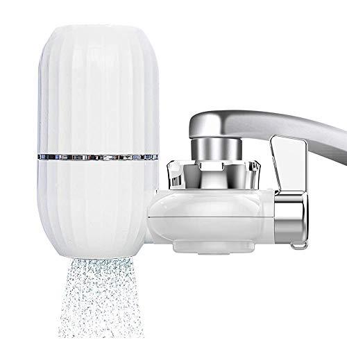 Spardar Wasserhahn-Wasserfilter, mehrschichtiger Küchenwasserhahnfilter, Wasserhahn-Wasserreiniger, Filterschalter mit Keramik-Filterkartusche (12 Wasserhahn-Filter)