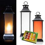 DbKW (Orange, 50) Outdoor Laterne mit LED-Flammen Beleuchtung + 12tlg. Kalff Design-Seifen Set,...
