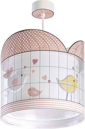 Dalber kinderlampe Pendelleuchte Hängelampe Vögel Little Birds Rosa Rose