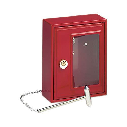BURG WÄCHTER Notschlüsselkasten, gleichsperrend mit Hammer, Stahl rot lackiert, 1 Stück,6161 GL.SP.4400400