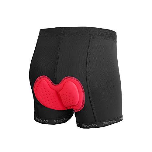 d.Stil Herren Fahrradhose Gepolstert 3D Unterhose Atmungsaktiv MTB Radunterhose Schnelltrocknende Shorts(XL) (XL)