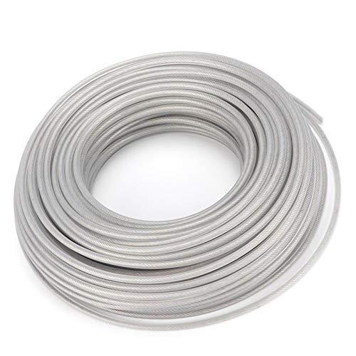 LiMePng 3mm * 60m Rasenmäherzubehör Grasschneider Linie Stahldrahtbürste Fräser Seil Forgrass Ersatz LiMePng