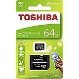 Toshiba 64GB Micro SDメモリーカード M203 SDXC UHS1 U1 Class10 SDアダプター付き