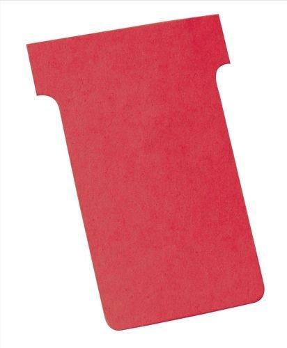 Nobo Kartentafel Zubehör T-Karten in Blisterverpackung, Größe 3, 100 Stück, rot