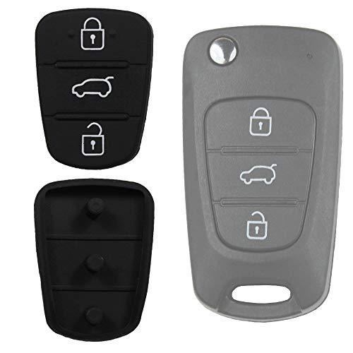 KONIKON Autoschlüssel Tastenfeld Gummi Pad Neu passend für Hyundai Kia i10 i20 i30 ix35 ix20 Elantra