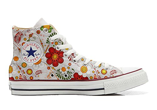 MYS Sneaker & Sportschuhe USA - Base Print Vintage 1200dpi - Italian Style - Hi Customized personalisierte Schuhe (Handwerk Schuhe) Floral Paisley Size 40 EU