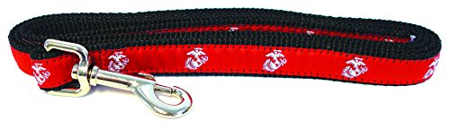 Son Sales, Inc. United States Military Logo Dog Leash (Small Dogs, 3/4 Inch Width, Marine Corps)