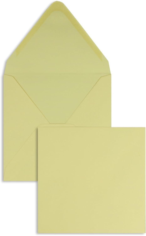 Farbige Briefhüllen   Premium   140 x 140 mm Creme (100 Stück) Nassklebung   Briefhüllen, KuGrüns, CouGrüns, Umschläge mit 2 Jahren Zufriedenheitsgarantie B00FPO9IUE   Feinbearbeitung