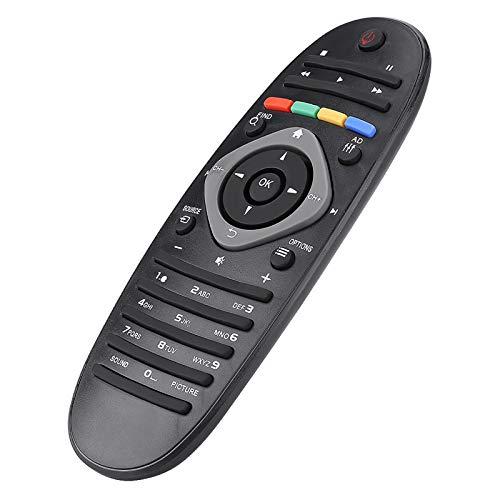 Shipenophy Mando a Distancia de Repuesto Mando a Distancia inalámbrico Ligero Compatible con televisores Philips para la Familia