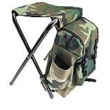2 en 1 Oxford Fishing Tackle Mochila Bolsa Camping Taburete Plegable Silla Silla Set