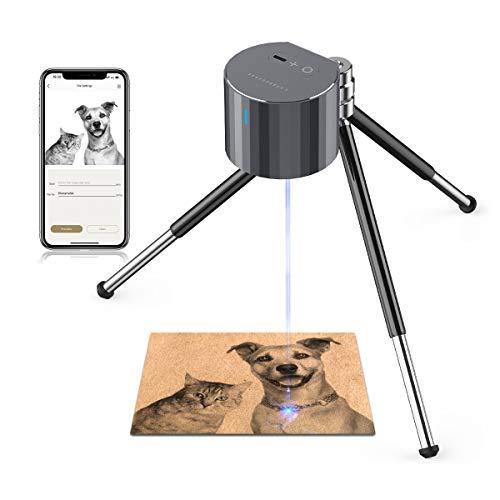 LaserPecker Pro Laser Graviermaschine Gravur Gravierer Gerät Laser Tragbarer Lasergravierer Lasern mit Stativ Gravieren Holz Leder