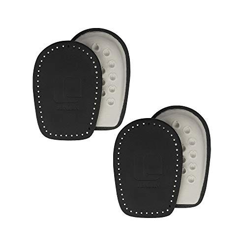Lenzen 2 Paar Fersenpolster aus Leder I Schwarz I Orthopädisches Fersenkissen als Schuheinlage für Fersenschutz und Fersensporn (35-37)
