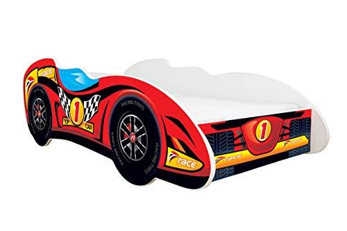 Topbeds Lit pour enfant design voiture – matelas inclus 140 x 70 – F1 – Top Car