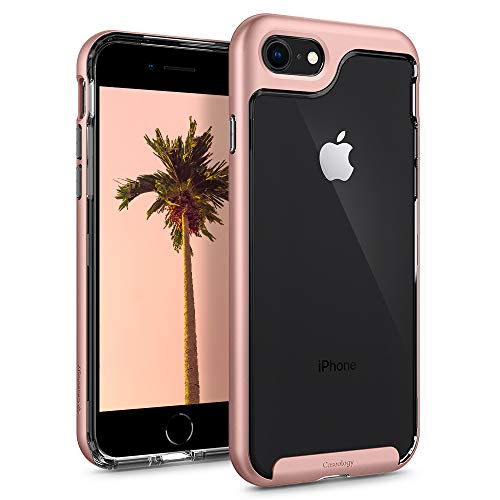 Caseology Skyfall for Apple iPhone 8 Case (2017) / for iPhone 7 Case (2016) - Clear Back & Slim Fit - Rose Gold