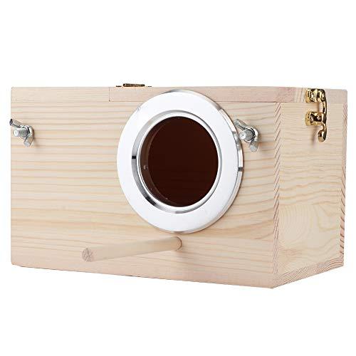 Nest Box Bird House, 12x12x19.5cm Wood Bird House Incubación de Mascotas Caja de cría Caja de Madera Caja de Nido Caja de Madera Jaulas de pájaros Accesorios de decoración de jardín al Aire Libre