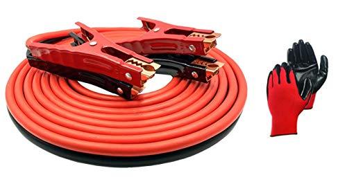 FEENIX 25390 Heavy Duty Booster Jumper Cables 4 Gauge X 20 FT 500A -...