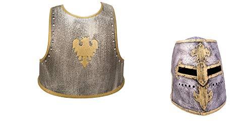 Unbekannt Kinder Ritterset bestehend aus Helm und Brustpanzer