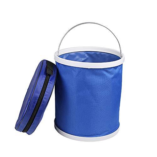 Cubo plegable con mango 13L portátil plegable cubo con bolsa de almacenamiento para pesca al aire libre lavado de coches