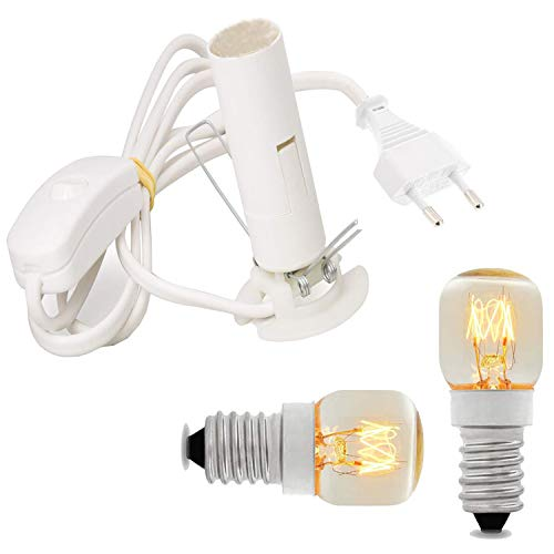 Attacco elettrico sostitutivo della lampada di sale dell\'Himalaya - Lampadina EU Plug Plus 2 anni di garanzia