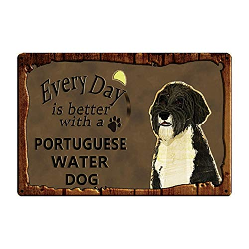 SZLGPJ Pets Dog Metal Tin Sign Plaque Chihuahua Pug Metal Plate Home Garden Decor Bar Pub Wall Art Iron Painting 20 * 30 Cm 20x30cm y2902