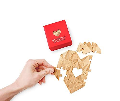 LUKYCMR   Puzzle felicitaciones, diseño corazones, color rojo