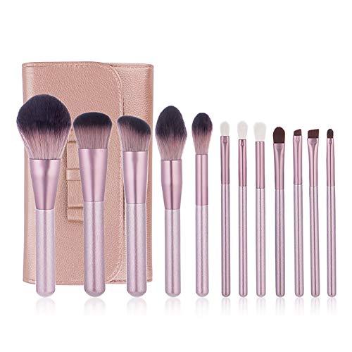 Professionnel Pinceaux Maquillage Maquillage Femme 12pcs Set Fibres + Cheval Cheveux Kit Cosmétique Fard à Joues, Ombreur, Contour 24pcs Set