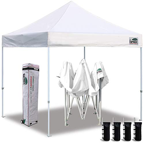 Eurmax 10'x10' Ez Pop Up Canopy Tent Commercial Instant Canopies...