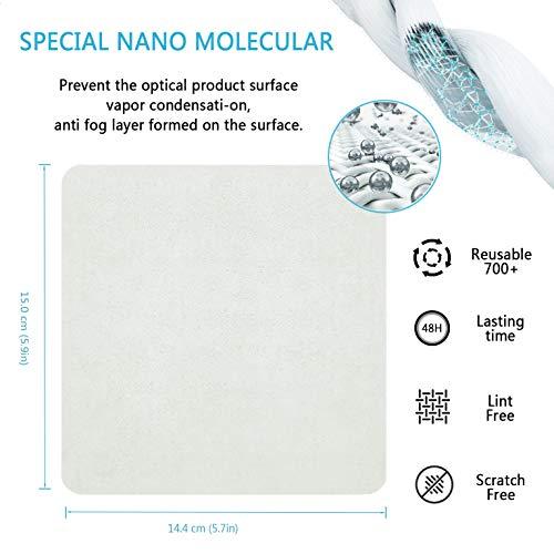 41XG3qIp51L - Eyeglasses Anti-Fog Cleaning Cloths, Screens, Lens Wipe for All Electronic Device Screens(5 Packs Anti-Fog Wipe)