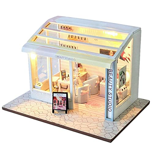ROYAL STAR TY DIY Doll House Salon Boutique Muñeca Casas Miniatura Casa...