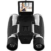 GordVE HD 1080P Digital Camera Spy Camera, 12X Puissant Zoom Binocular Camera Digital, Folding Prism Digital Binoculars/Camera Video