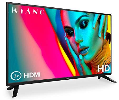 Kiano Slim TV 32' Pouces [80 cm, Triple Tuner, DVB-T2, CI, CI+] Lecteur Multimédia Via Port USB...