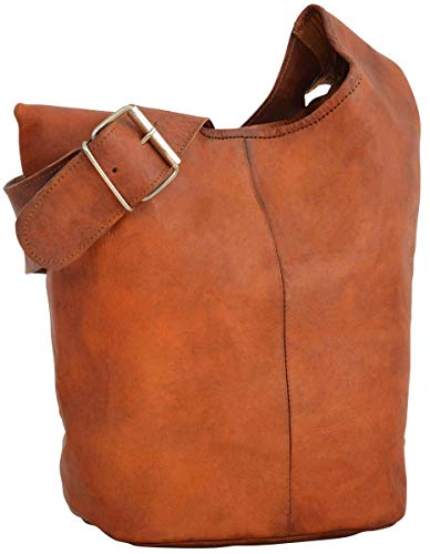 Gusti Bolso Bandolera Josephine Bolso Cruzar Bolso Mediano Vintage marrón Cuero