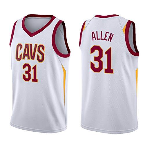 2021 Cǎvǎlǐěrs allěn 31# Camiseta para Hombre Basketball Jersey Malla sin Mangas Top Team Entrenamiento Uniforme de Punto Sin Mangas Vest Casual Sportswear Polo Shi XS