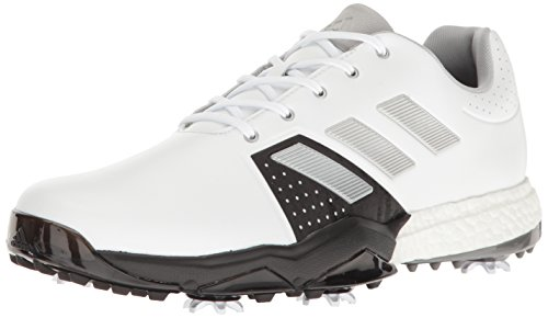 Adidas Men's Adipower Boost 3 Golf Shoe, White/SilverMetallic/CoreBlack, 11.5 M US