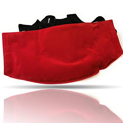 Kerafactum Wärmekissen Mikrowelle für Rücken und Nacken Moorkissen Wärmekissen Kissen aus Natur Moor mit Gürtel zuhause anwendbar wie eine Wärmflasche Kinder Erwachsene geeignet