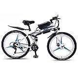 Hyuhome Bicicletas de montaña eléctrica para Adultos, Plegable de MTB...
