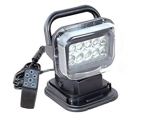 LED-onderzoekslamp met LED-lamp, licht, afstandsbediening, met magnetische voet, waterdicht, 50 W, 360 graden draaibaar, voor auto, terrein en jacht, boot, tuin, zwart