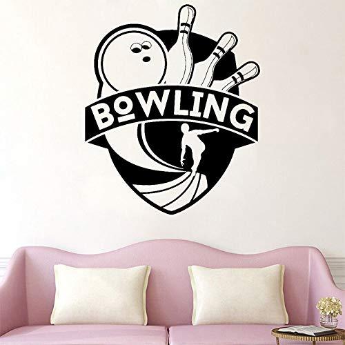 Pegatinas de pared de bolos, calcomanías de vinilo para sala de estar, pegatinas deportivas, pegatinas de entretenimiento para jugadores de Club, papel tapiz mural, pegatinas de pared A9 42x50cm