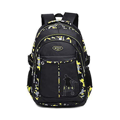 BAACD, school bag backpack boys children 3-6 class teenager 8-12 years old waterproof and lightweight Primary school student Campus female travel book bag Backpack-yellow