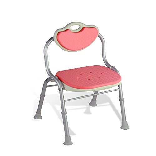 Affordable RUNWEI Adjustable Shower Chair with Back - Bathtub Chair with Arms for Handicap, Disabled...