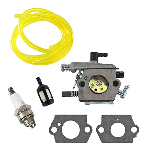 HURI Vergaser mit Benzinfilter Benzinschlauch Zündkerze Kit für Fuxtec FX-KS146 FX-KS162 FX-KS155 CS6150 Kettensäge Motorsäge