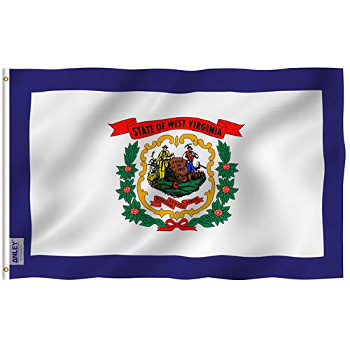 Anley Fly Breeze 3x5 Foot West Virginia State Flag - Vivid Color Fade Proof - Canvas Header Double Stitched - West Virginia WV Flags Polyester Brass Grommets 3 X 5 Ft