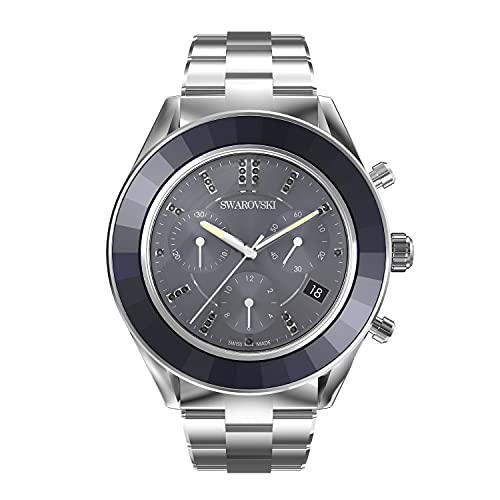 Swarovski Reloj Octea Lux Sport, Brazalete de metal, Azul, Acero inoxidable