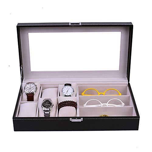 Caja de almacenamiento de gafas, Sunglass exhibición de los vidrios de las lentes de cajón Caso Organizador clasificación caja gafas de sol de almacenamiento caso Gafas de sol Relojes de joyería del c